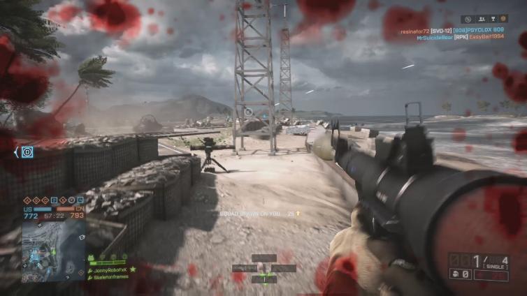 Skeletonframes playing Battlefield 4